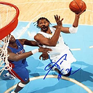 Nene Autographed Signed Denver Nuggets Basketball 8x10 Photo by Hollywood+Collectibles