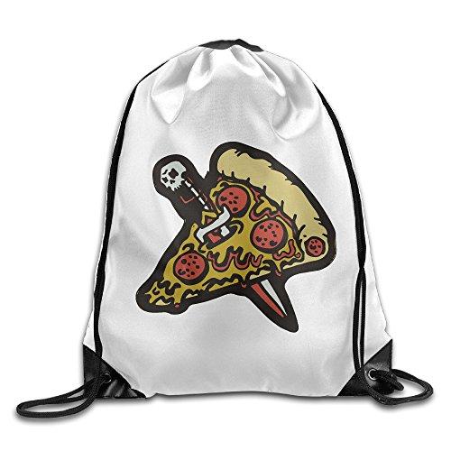 PIZZA KNIFE ENAMEL PIN Sports Drawstrings Backpack Bag