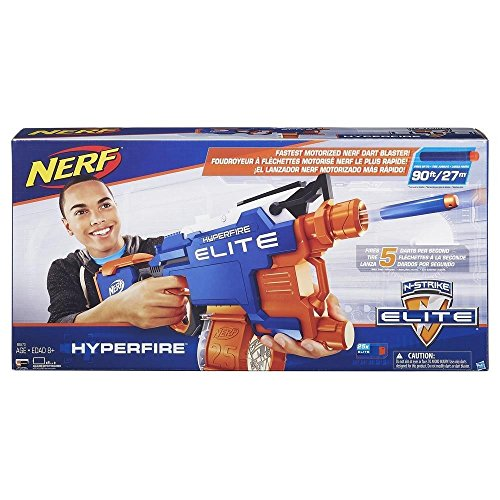 Nerf - Lanzador, Elite Hyper-Fire (Hasbro B5573EU4)