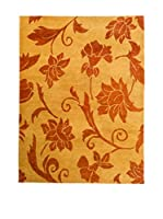 CarpeTrade Alfombra Soft Silk Nepal (Teja/Beige)