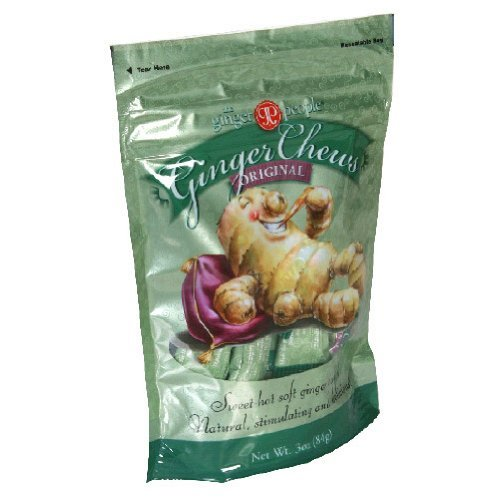 The Ginger People Original Ginger Chews, 3-Ounce Bags (Pack of 24)