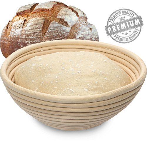 Carenoble Bread Basket Proofing Bowl - Premium Quality 8.5 inch Round Banneton Rattan For Rising Patterns Dough / Sourdough - Professional Brotform for Artisan Bread Baking (Bread Bowl Mold compare prices)