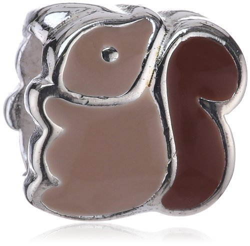 Kit Heath Children's Sterling Silver Squirrel Charm Bead