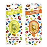 JELLY BELLY TWIN PACK CAR VENT CLIP AIR FRESHENER SCENTS - LEMON DROP + TANGERINE