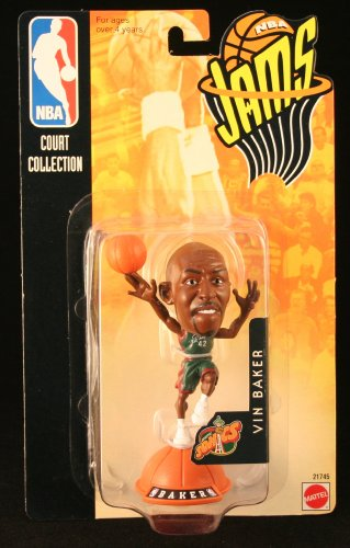 VIN BAKER / SEATTLE SONICS * 98/99 Season * NBA JAMS Super Detailed * 3 INCH * Figure - SUPERSONICS