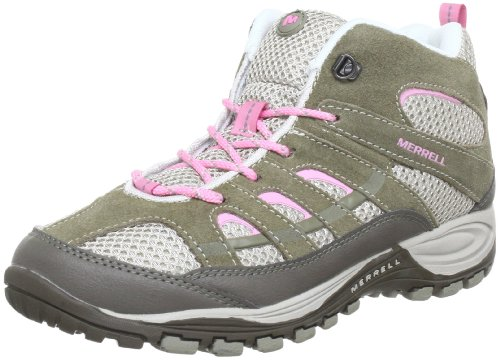 Merrell CHAM 4 MID VENT KIDS Trekking & Hiking Shoes Girls multi-coloured Mehrfarbig (ELEPHANT/SEA PINK) Size: 34