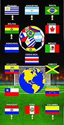 Chile Copa America Towel Team Flag Soccer Soccer Wonder Beach Towel