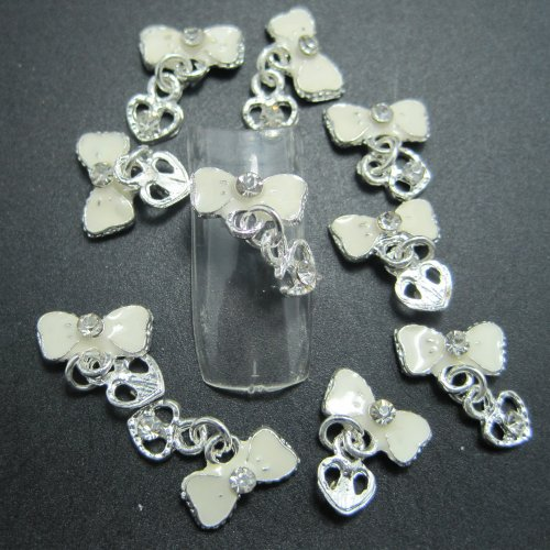 EVERMARKET(TM) 10PCS Fashion Nail Art 3d Alloy Rhinestones Nail Art DIY Decorations 1340