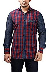 Rapphael Men's Full sleeve Casual Shirt (Cotton, Small)