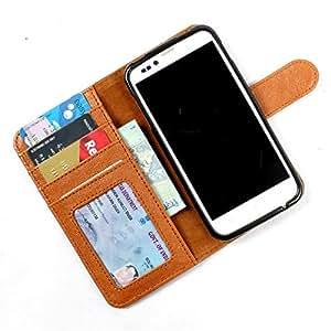 For Karbonn A1 + - PU Leather Wallet Flip Case Cover