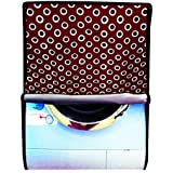 Dream Care Polka Maroon Printed Waterproof & Dustproof Washing Machine Cover For IFB Front Load Senorita-SX 6.5kg Washing Machine