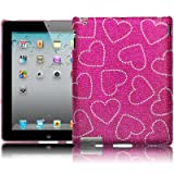 APPLE IPAD 2 LOVE HEARTS DESIGN SMART DIAMANTE CASE / COVER / SHELL / SHIELD PART OF THE QUBITS ACCESSORIES RANGEby Qubits