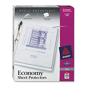 Avery Economy Clear Sheet Protectors, Acid Free, Box of 100 (75091) from Avery