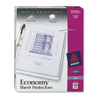Avery Economy Clear Sheet Protectors, Acid Free, Box of 100 (75091)