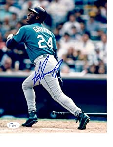 AUTOGRAPHED KEN GRIFFEY JR 8X10 JSA Seattle Mariners Photo by Main+Line+Autographs