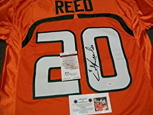 Ed Reed Autographed Miami Hurricanes Jersey JSA Witness - Autographed College Jerseys by Sports+Memorabilia