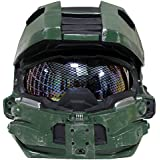 Halo 4 Master Chief Helmet Mask, Full Size, Removelable Homeycomb Glass