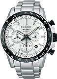 [セイコー]SEIKO 腕時計 BRIGHTZ ANANTA ブライツ アナンタ メカニカル スーパークリアコーティング タキメーターつき ホワイト SAEK009 メンズ