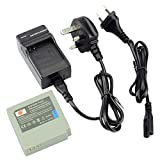 DSTE® IA-BP85ST Replacement Li-ion Battery + Charger DC50U for Samsung BP85ST, IA-BP85NF, VP-HMX08, VP-HMX10, VP-HMX10C, VP-HMX20C, VP-MX10, VP-MX20, VP-MX25, HMX-H100, HMX-H104, HMX-H105, HMX-H106, SC-HMX10, SC-HMX20C, SC-MX10, SC-MX20, SMX-F30, SMX-F33