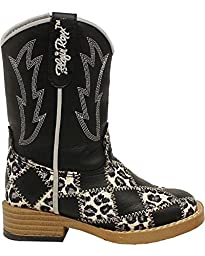 Blazin Roxx Toddler-Girls\' Miley Patchwork Boot Square Toe Black 6.5 US