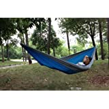 Enjoydeal Portable Parachute Nylon Fabric Travel Camping Hammock for Double Two Person