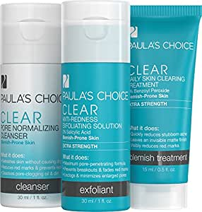 Paula's Choice Clear Extra Strength Acne Trial Kit 2% Salicylic Acid & 5% Benzoyl Peroxide for Severe Acne