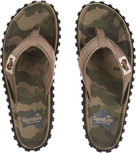 GUMBIES Infradito Unisex - Camouflage, Uomo, 44