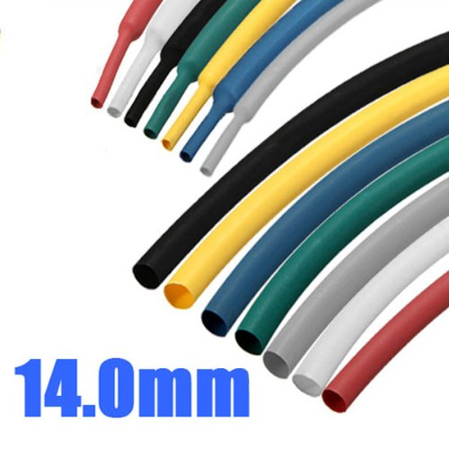 Free Shipping 1M 14.0mm 2:1 Polyolefin Heat Shrink