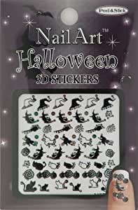 Nail-Art Sticker Halloween Design NSB-04-Multi Black