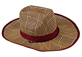 EOZY 男女兼用 麦わら帽子 レディース 日除け帽子 夏 アウトドア用 運動 屋外作業 通気 かっこういいカウボーイハット