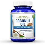 Coconut Oil Capsules - 1000 mg Organic Extra Virgin - 180 Softgels - Great Pills for Hair, Skin, Energy and Weight Management