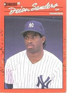 1990 Donruss # 427 Deion Sanders New York Yankees Baseball Card