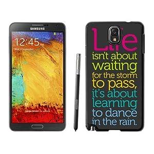 Case Dance In The Rain Life Quote Samsung Galaxy Note 3 Case in Black