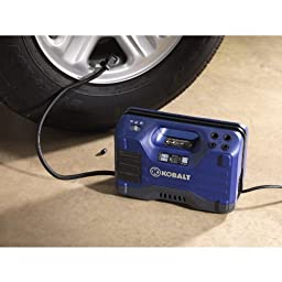 Kobalt Electric Air Compressor 120 PSI Portable 12 Volt or 120 V Tire Inflator by Kobalt