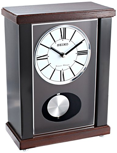 Seiko QXQ028KLH Mantel Japanese Quartz Shelf Clock