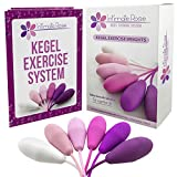 Intimate Rose Kegel Exercise Weights -Bladder Control & Pelvic Floor Exercises - Set of 6 Premium Silicone Cones with Training Kit for Women: Beginners & Advanced