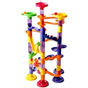 Wishtime Marble Race Maze Game With 44 Building Blocks & 30 Marble Run Balls(74pcs) Activity Toys For Childs Kids