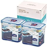 Lock&Lock BPA Free Food Containers 2 Containers Set with Leak Proof Locking Lid