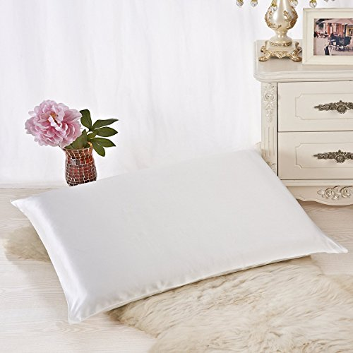 Cheapest Price! ALASKA BEAR - Natural Silk Pillow Cases for Hair & Facial Skin Beauty Queen Size...