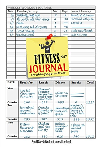 Fitness Journal 2017 : Workout Log & Food Journal: Keep Fit & Track Your Food & Workouts Easily with This Handy Weight Loss Journal (Fitness Journals 2017) (Volume 1)