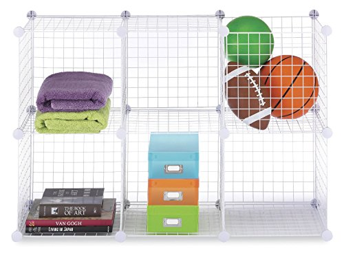 Whitmor-Black-Storage-Cubes-Set-of-6