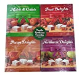 Liberty Orchards Fruit Confections Gift 4 Set (Pack of 4 - Aplets & Cotlets, Fruit Delights, Pecan Delights, Northwest Delights)