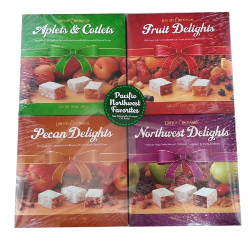 Liberty Orchards Fruit Confections Gift 4 Set