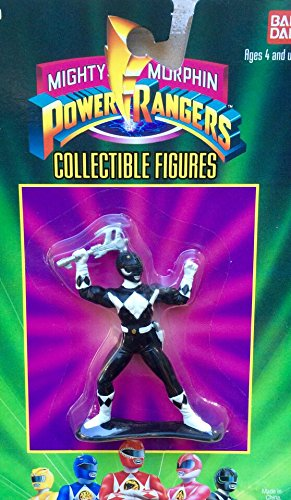 "Mighty Morphin Power Rangers Black Ranger 3"" Figure - 1"