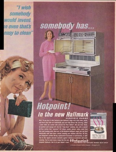 Hotpoint Hallmark Electric Range 1963 Antique Home Vintage Antique Advertisement