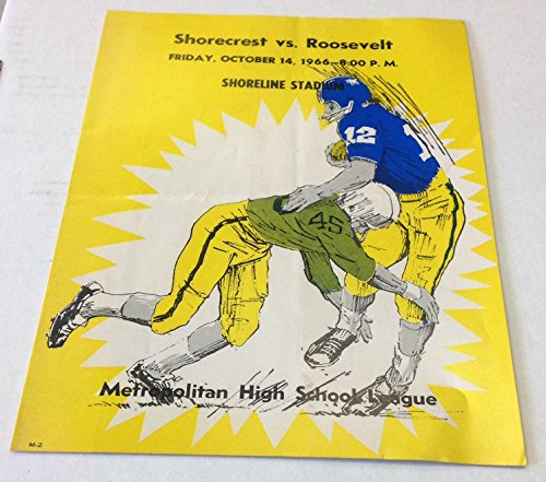 1966 WA Shorecrest vs Roosevelt Metropolitan High School League Football Program