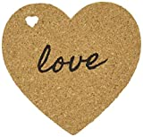 "Kate Aspen ""Heart"" Cork Coasters, Set of 4"