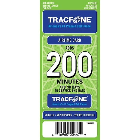 Tracfone 200 Minutes And 90 Days Of Service Recomended