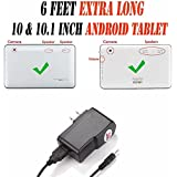 6 Feet Ac/dc Charger Adapter (6h) for 10.1 Inch Android Tablet Pc Wall Fits (Contixo Q102 10.1)