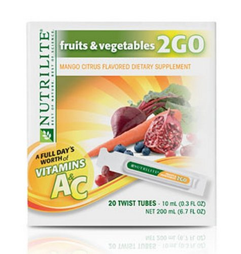 Nutrilite Fruits Vegetables 2 Go Mango Citrus Flavor Dietary Supplement By Amway
